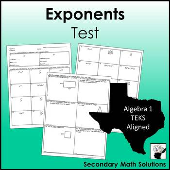 Exponents Test (A11B)
