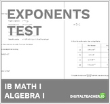 IB Math Exponents Test