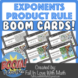 Exponents - The Product Rule Boom Cards!