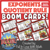 Exponents - The Quotient Rule - Negatives Included - Boom Cards!