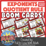 Exponents - The Quotient Rule - No Negatives - Boom Cards!