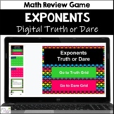 Exponents Truth or Dare Math Game for Google Classroom|Slides