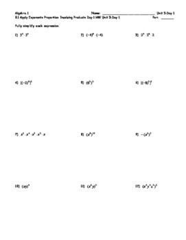 Exponents Unit