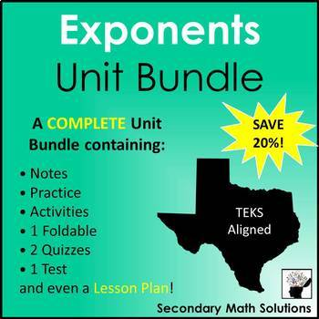 Exponents Unit Bundle (A11A, A11B)