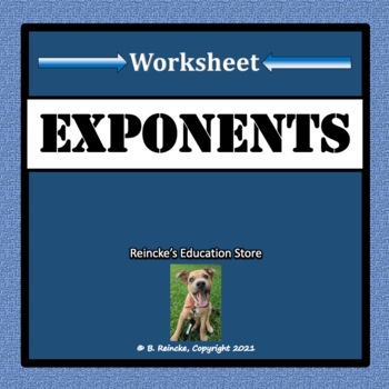 Exponents Worksheet for Practice