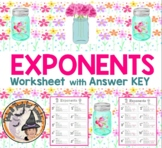 Exponents Worksheet with Answer KEY Base Exponent Expanded Form Exponential