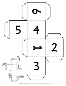 Exponents Yahtzy Dice Game Grades 5 - 6