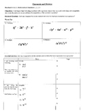 Exponents and Division (8.EE.1; Math Standards 1, 2, 3, 4)