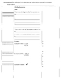 Exponents and Division (8.EE.1; Math Standards 1, 2, 3, 4) - Cornell Notes