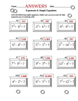 Exponents and Equations