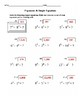 Exponents and Equations PLUS Exponents Challenge