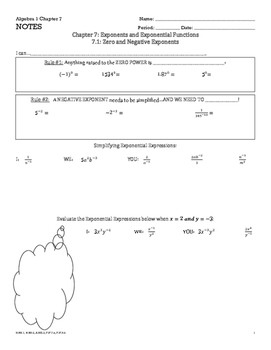 Exponents and Exponential Function Guided Notes
