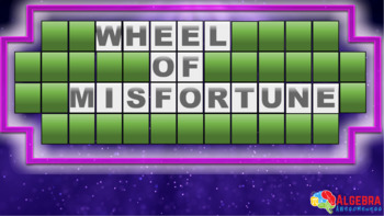 Exponents and Exponential Functions Review Game - Wheel of Misfortune