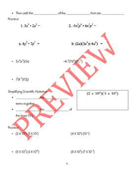 Exponents and Exponentials Functions Bundle Guided Notes, PP, and Homework