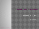 Exponents and Expressions, Full Lesson - 6.EE.1