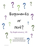 Exponents and Expressions