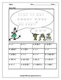 Exponents and Monomials:  Monomial Multiplication and Divison Bundle