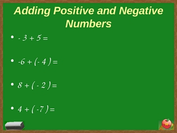 Exponents and Negative Numbers Power Point