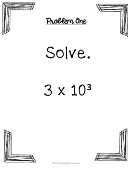 Exponents and Order of Operations Activities