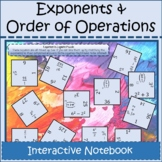 Exponents and Order of Operations Digital Interactive Note