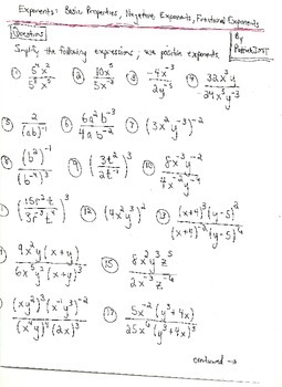 Exponents and Radical Notation