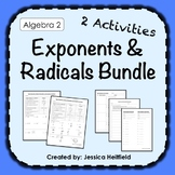 Exponents and Radicals Activity Bundle: Fix Common Mistakes!