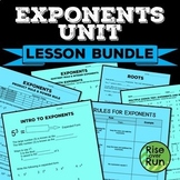 Exponents and Roots Unit Bundle, Common Core