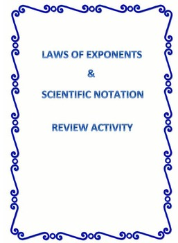 Exponents and Scientific Notation (8.EE.A.1 and 8.EE.A.3)