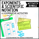 Exponents and Scientific Notation Activity Bundle