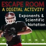 Exponents and Scientific Notation Digital Escape Room -- D