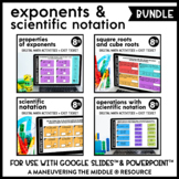 Exponents and Scientific Notation Digital Math Activity Bu