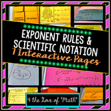 Exponent Rules and Scientific Notation Interactive Notebook Pages