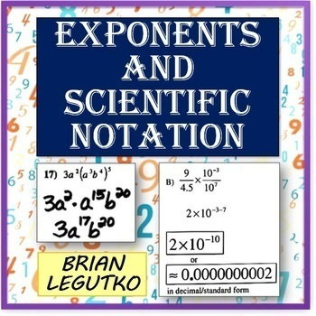 Exponents and Scientific Notation (Notes, WS, PopQuizzes w/Answer Keys)
