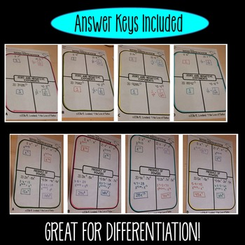 Exponents and Scientific Notation Round Robin Bell Ringer/Exit Tickets