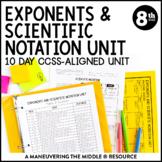 8th Grade Exponents and Scientific Notation Unit: 8.EE.1, 8.EE.2, 8.EE.3, 8.EE.4