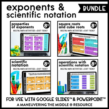 Exponents and Scientific Notations - Supplemental Digital Math Activities