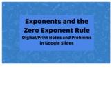 Exponents and Zero Exponent Property