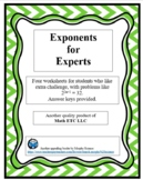 Exponents for Experts