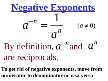 Integer Exponents in Algebra   Common Core 8.EE.A.1