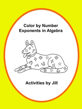 Exponents in Algebra Color by Number