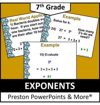 (7th) Exponents in a PowerPoint Presentation