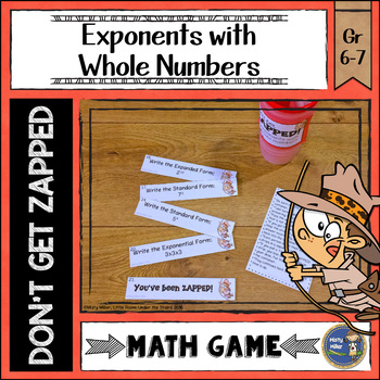 Exponents with Whole Numbers Don't Get ZAPPED Math Game