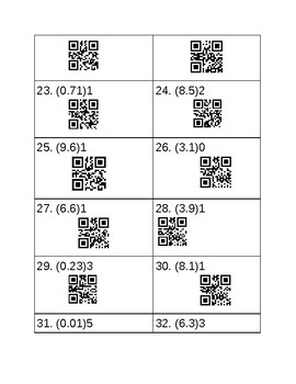 Exponents with decimal bases QR code SCOOT