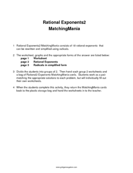 Exponents2 MatchingMania