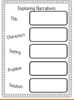 Exporing Narratives Worksheet