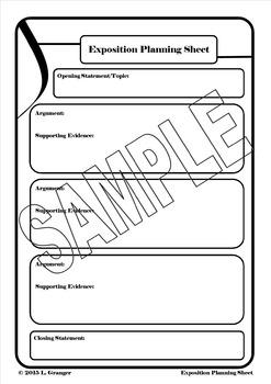 Exposition Planning Sheet Portrait
