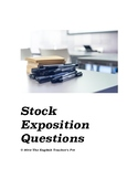 Exposition Questions worksheet