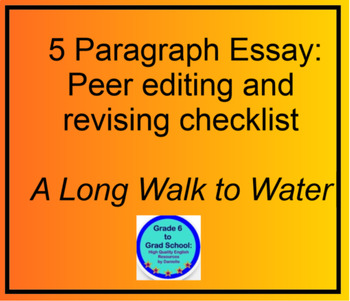 a long walk to water expository paragraph essay peer revision a long walk to water expository 5 paragraph essay peer revision checklist