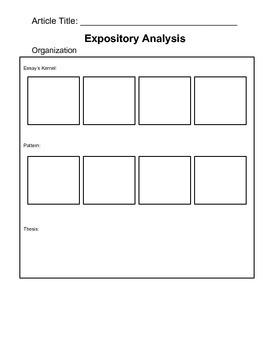 Expository Analysis Graphic Organizer
