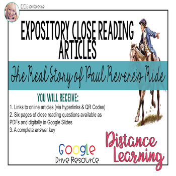 Expository Article - Paul Revere: The True Story {Google D